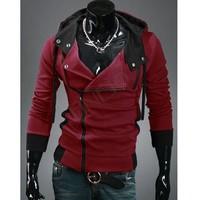 fashion brand sports hoodies sweatshirt men's long sleeve casual slim fit zipper hooded coats male Plus Size,4XL B19 CB030384