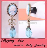 Free shipping ear expender  mix 8-20mm 28 pcs/lot light blue pretty girl flesh  ear tunnel plugs  taper body jewelry