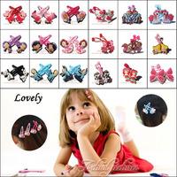 Free DHL + Wholesale 1000 pairs Cartoon Logo Cute Baby Girls Kids Hair Clip Claws /Elastic  Hair Bands / Hair Accessories,Gift