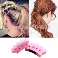 Wholesale Sale 30PCS  S/L Size Useful Sponge Plait Hair Braiding Tool Roller Braid Stylist Hair Braiders Free Shipping