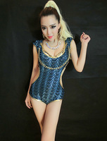 wholesale new Europe and costume nightclub bar DJ singer Jazz stage outfit sexy clothes TM1318LS