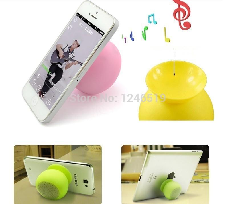 Mini suporte Bluetooth Speaker Car Kit sem fio à prova d ' água Silicone otário Handsfree para o telefone titular tablet PC Player(China (Mainland))