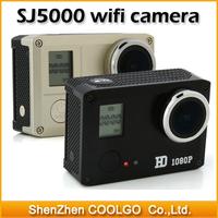 Sports DV SJ5000 with waterproof case 14.0 MP 2/3 CMOS 1080P Full HD WiFi Outdoor Sports Digital Video Camera - Golden/Black