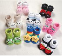 Cotton children's stockings Three-dimensional booties cartoon dispensing antiskid newborn baby animals cotton socks