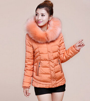 New Arrival Korean Version Thick Padded Jacket Women's Fur Collar Down Coat Free Shipping / M-XXL