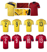 James Rodriguez FALCAO 2014 World Cup Colombia Soccer Jersey Columbias football shirt Colombia Jersey de Futbol