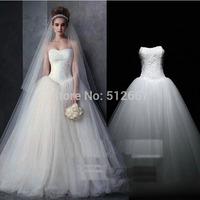 High vestidos de noiva New elsa dress Wedding dress 2015 Real Sample Fashion strapless Tulle lace Ball Gown frozen elsa Dress