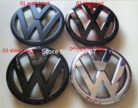 MIX 50pcs 138mm MK6 Volkswagen VW Front Bonnet Grill Emblem Badge Logo Fit Golf 6 GTI  R20 Polished gloss /matt Black red carbon