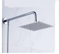 "Hot Sale Wholesale And Retail Promotion Wall Mounted 6"" Square Rain Shower Head + Shower Arm + Hose Wall Mounted 3 PCS"
