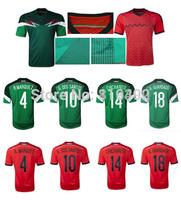 Top Thai quality DOS SANTOS Mexico soccer jerseys Mexico jersey AQUINO CHICHARITO football Shirts Mexico Futbol Jersey
