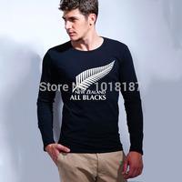 New brand rugby football new zealand t shirt All Blacks team sports man t-shirt cotton long sleeve men's tshirt