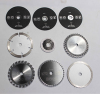 free shipping 9 pcs blade for mini saw 7 kinds different blade working for wood,metal,granite,marble,tile,brick good