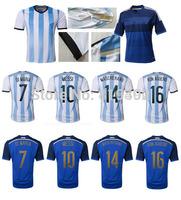 MESSI HIGUAIN DI MARIA 2014 World Cup Eagle Pampas Football Shirts Argentina Soccer Jersey Camisas de Futebol Argentino
