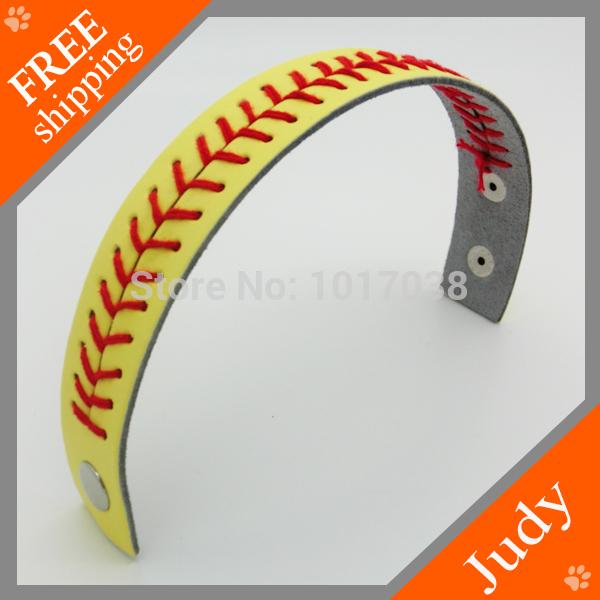 Wholesale seamed leather bracelets non-slip softball bracelets frozen(China (Mainland))