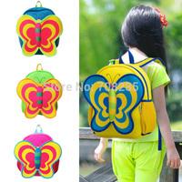 DHL Free Shipping~20 pcs/ lot~Kids School bag~Butterfly Neoprene zoo 3D Cartoon shoulder bag~kids animal luggage Frozen backpack