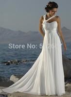 New vestido de noite long Halter Straps Handmade Flower Chiffon Beach White Ivory vestidos largos fiesta evening long Dresses