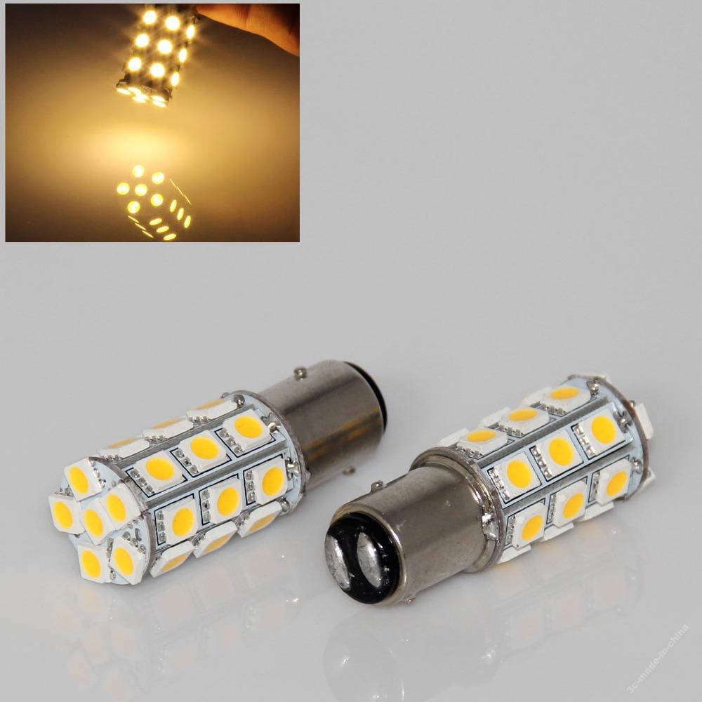 2 PCS 1157 BAY15D P21/5W 27SMD 5050 Car 12V LED Tail Brake Light Bulb Lamp Turn Signal Light Bulb Lamp led Car Blue White(China (Mainland))