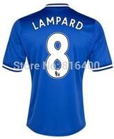 Top Thai quality 13/14 Chelsea home soccer jersey 2013/2014 Eden chelsea Hazard 17 blue football shirt kit uniform fc set