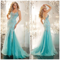 2014 Luxury Elegant Mermaid Sweetheart Spaghetti Strap Evening Dress Gown for Mother Party Wedding Custom Made Any Color&Size