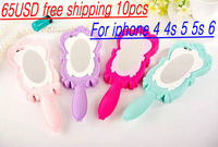 10pcs/lot Cartoon Cute Fashion Barbie Doll Magic Mirror  Silicon Case Cover For Apple Iphone 4/ 4S /5/ 5S/ 6