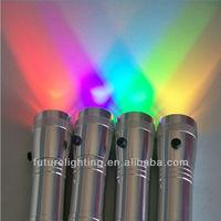 portable RGB Color changing multifunction 3W led flashlight