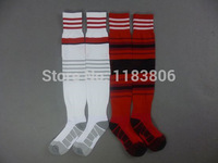 Thai quality original club socks AC milan 14-15 home red away yellow soccer football sock Embroidery Logo Balotelli,El Shaarawy
