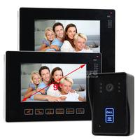 9 Inch CCTV Video Door Phone Intercom Doorbell Home Security Touch 1 Camera 2 Monitor RFID Reader Camera Home Entry Intercom