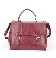 "H031 red,Discount PU  school lady leather handbags,women messenger bag,Size:12.5 x 5.5 x 10.5""(L*W*H),1pcs/opp bag,free shipping"