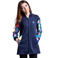 Preppy Style Fashion Girl Cardigan Print Long Zipper Sweatshirt Street All-Match Full Sleeve Cotton Coats Sudaderas Unisex 5568