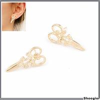 Fashion Lovely Gold Scissors Stud earrings Small cute earrings for children girls High quality cheap earrings jewelry