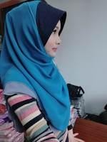 mu613 newst style muslim hijab two layer chiffon with brim scarf design islamic hijab