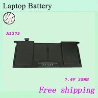 Brand New 4cells  A1375  laptop  battery For APPLE 020-6920-01 020-6921-B 7.4V 35WH Free shipping+gift