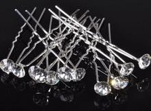 Wholesale 30pcs Wholesale Princess Mini Crystal beads Wedding Bridal Tiara Hair Pins Clip