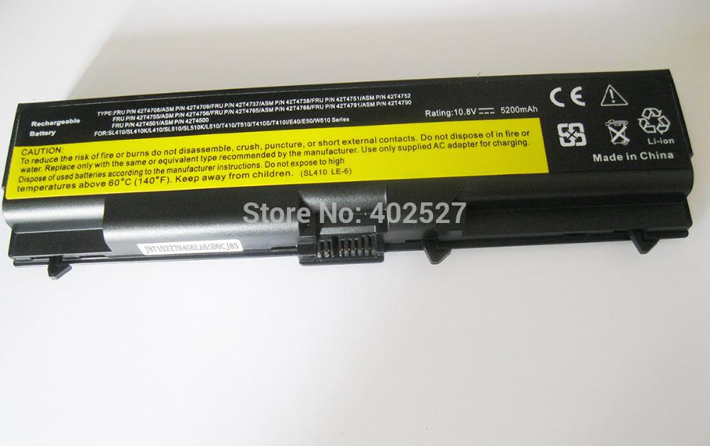 6 батарея для Lenovo ThinkPad SL410 SL410k SL510 T410 FRU ...