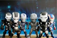 Iron Man 3 Light & Action Figure War Mechine Iron Patriot Collectible Figure Toys 6pcs/set