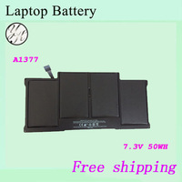 Free shipping 100% New  Laptop  battery For APPLE  A1377  7.3V  50wh / 6700mah Black+gift