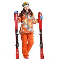 Dropshipping Prefessional Waterproof Snowboard breathable ski juits windproof Skiing overall Woman thermal SKI jacket+pants