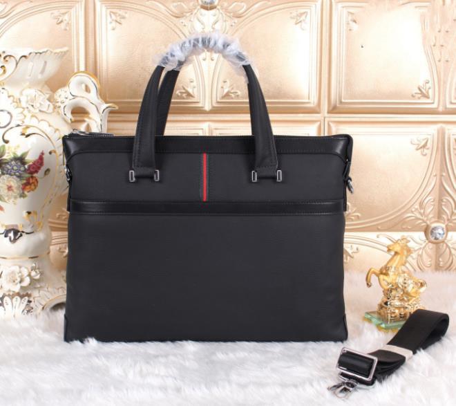 Genuine leather men's briefcases 40*29cm gu famous brand designers male office bags bolsas de marca portfolios #1(China (Mainland))