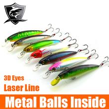Wholesale Fighter Brand 7pcs Luminous Plastic Fishing Lure Set rocky Minnow  Style For Sea Fishing Hooks Fishing Hard Bait