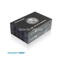 Charmvision EVO-1V, Audio VGA optical fiber transceiver, single mode single core, 20km, stereo voice & video optic transmission
