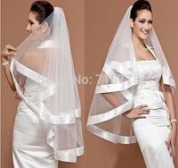 60~80cm short Bridal Veils Elegant Wedding Accessories Dress Bride Cathedral Chapel