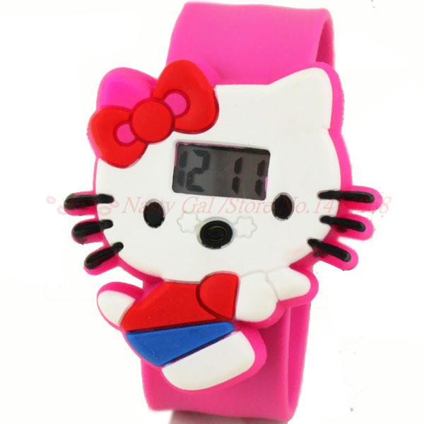Electronic 2014 New Fashion Brand Children Digital Watches Men Women Dress Watches Silicone Led Hello Kitty Cartoon Watch Hot(China (Mainland))