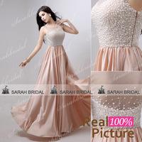AJ029vestido de festa de casamento de dia long evening dresses for mothers long prom evening dresses 2014 with crystal Nude