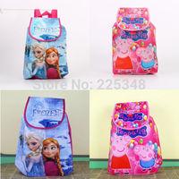 Frozen Peppa Pig Swimming Clothes Drawstring Bag Backpack School Bag Kids Gift