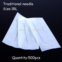 500pcs 1RL Sterilized Disposable Makeup Eyebrow Needles Tattoo Eyebrow Needles Free Shipping(China (Mainland))