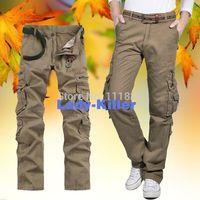 Brand New Men Pants Military Overalls Army Tactical Cargo Camo Pants Jogging Drop Crotch pants Casual Pants Work Trousers CS