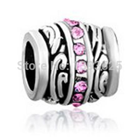 Dark pink beads fit Pandora charm bracelet hand jewelry accessories Christmas gift