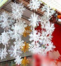 30 pz/set di natale secoration bianco neve fiocchi di neve mazzo ornamenti appesi neve stereoscopica per albero di natale accessori(China (Mainland))