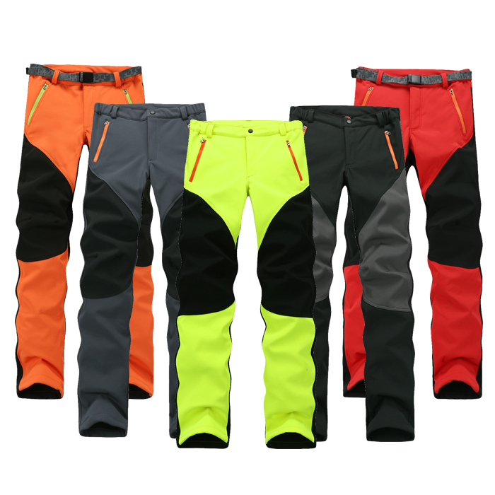Free Shipping Women Trousers Stretch Fleece Thermal Waterproof Windproof Soft Shell Camping & Hiking Skiing Pants 5 Color(China (Mainland))