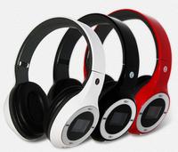 1PCS Free Ship Sports wireless Bluetooth headset with fm radio TF slot  Headband multi function computer mobile headphone